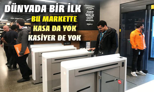 Kasa ve kasiyersiz ilk süpermarket açıldı