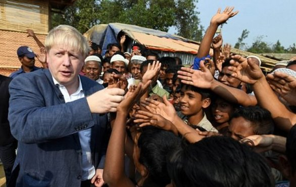 Boris Johnson Arakan'da